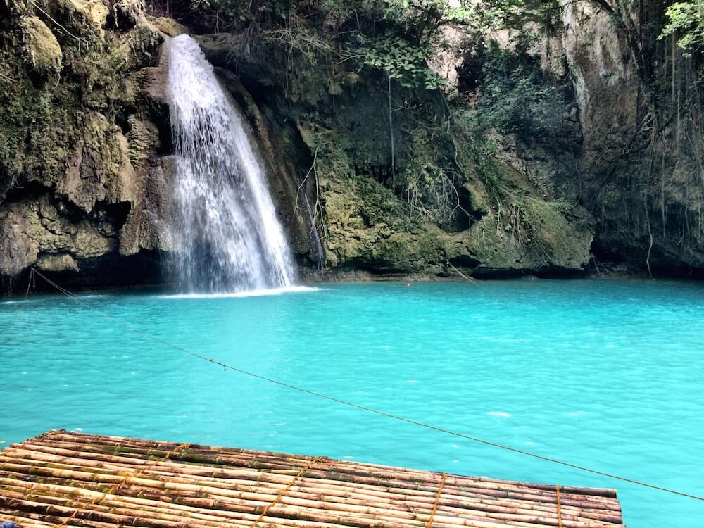 Famous waterfall in Cebu