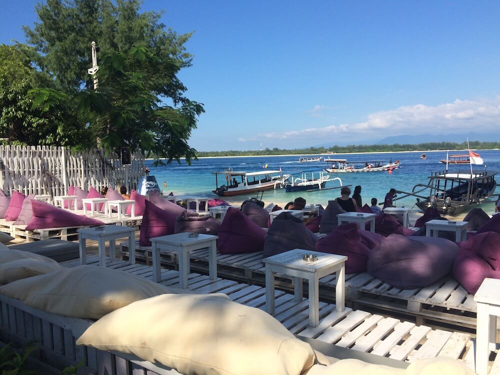 Where to find the boat party in gili T