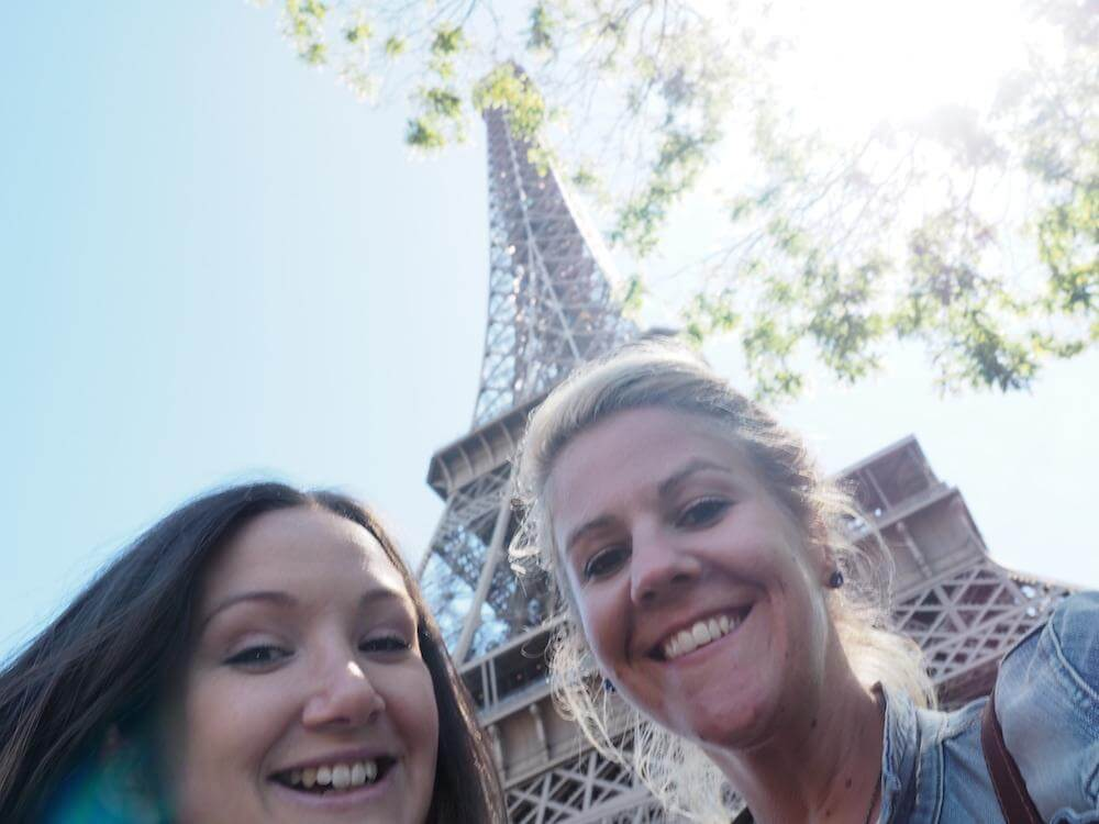 Us at the Eiffel Tower in Paris