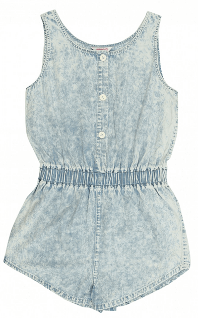 Acid Denim Wash Playsuit