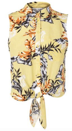 Tropical tie shirt