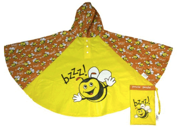 Poncho with a bee on
