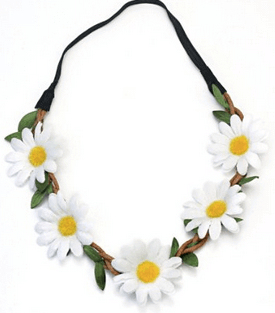 daisy head garland