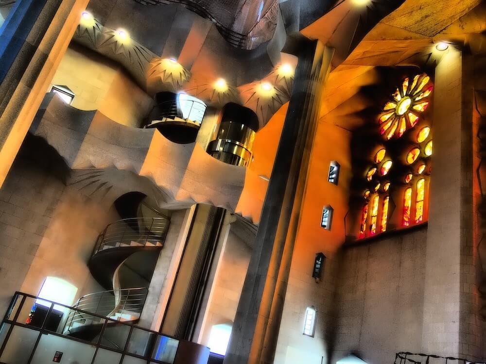 Exploring inside the Sagrada Familia