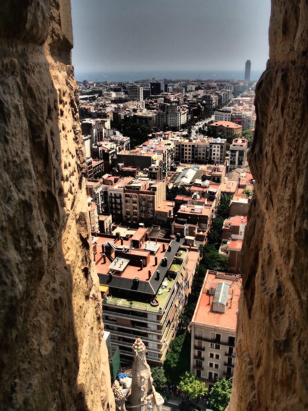 The towers of the Sagrada Familia