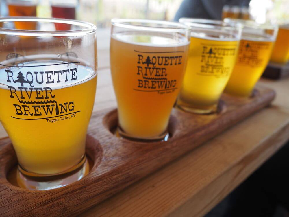 Beers at the Raquette River Brewing