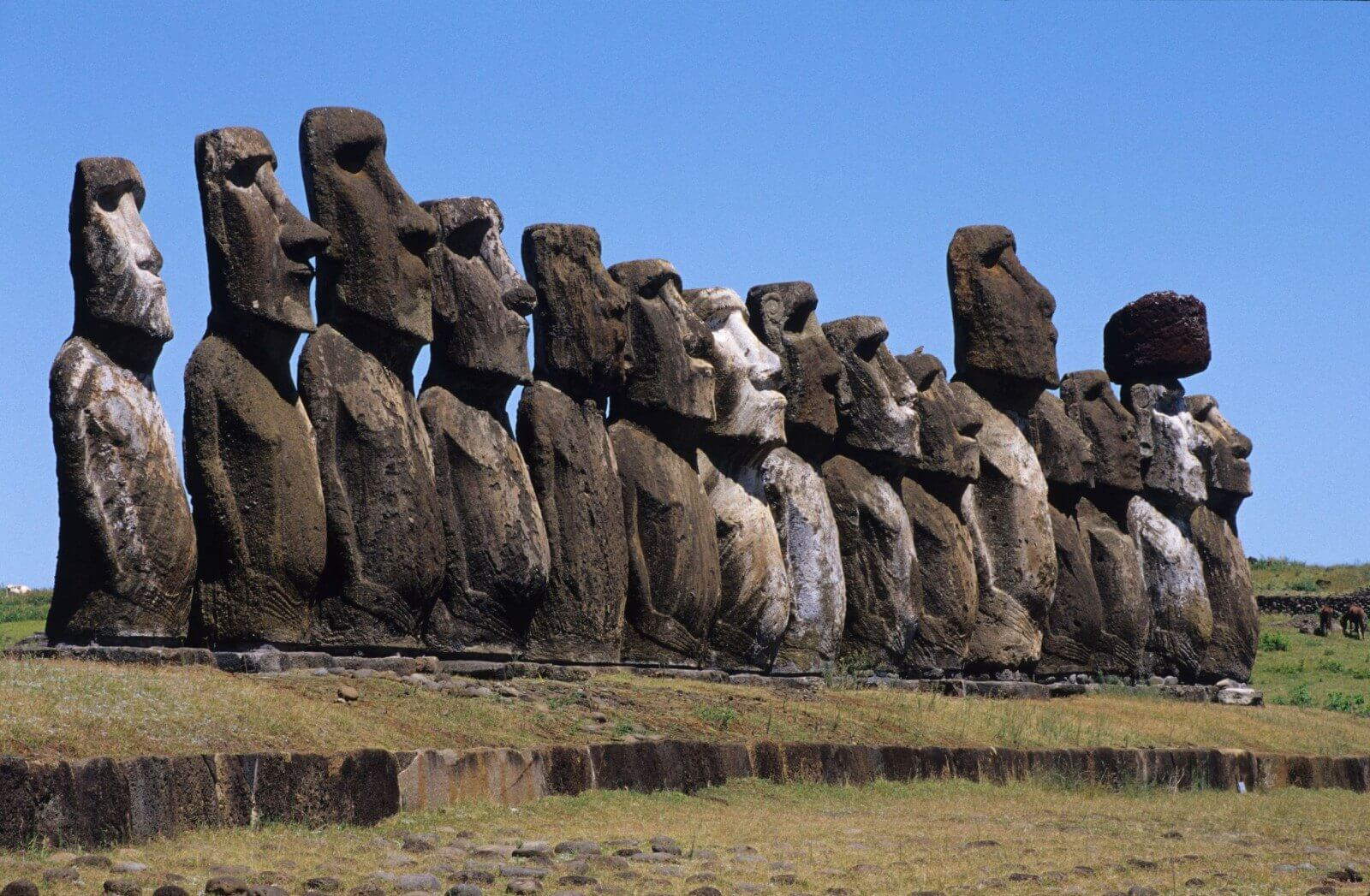 Giant Stone Heads Of Easter Island