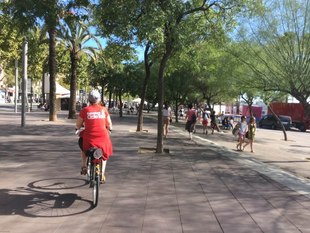 Exploring Barcelona on a bike