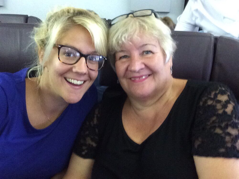 Travelling long haul with mum