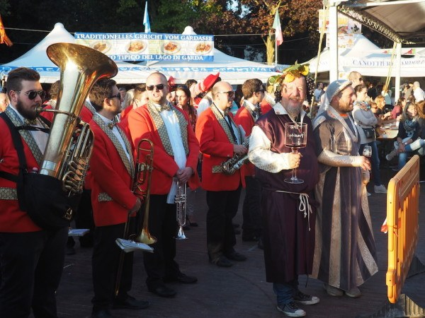 Musicians at the Bardolino Wine Festival