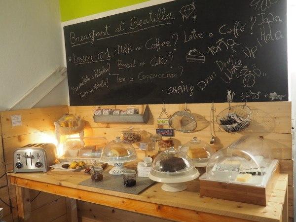 Breakfast at Beatilla in Italy