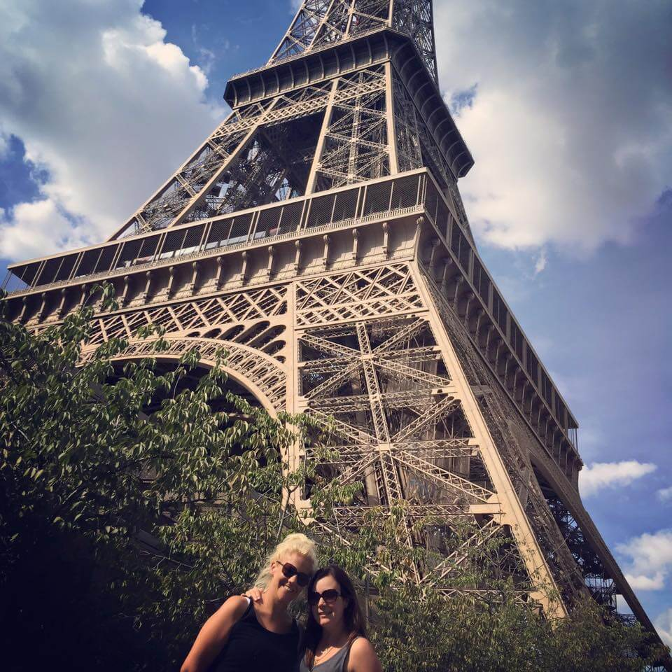 Chilling at the Eiffel Tower