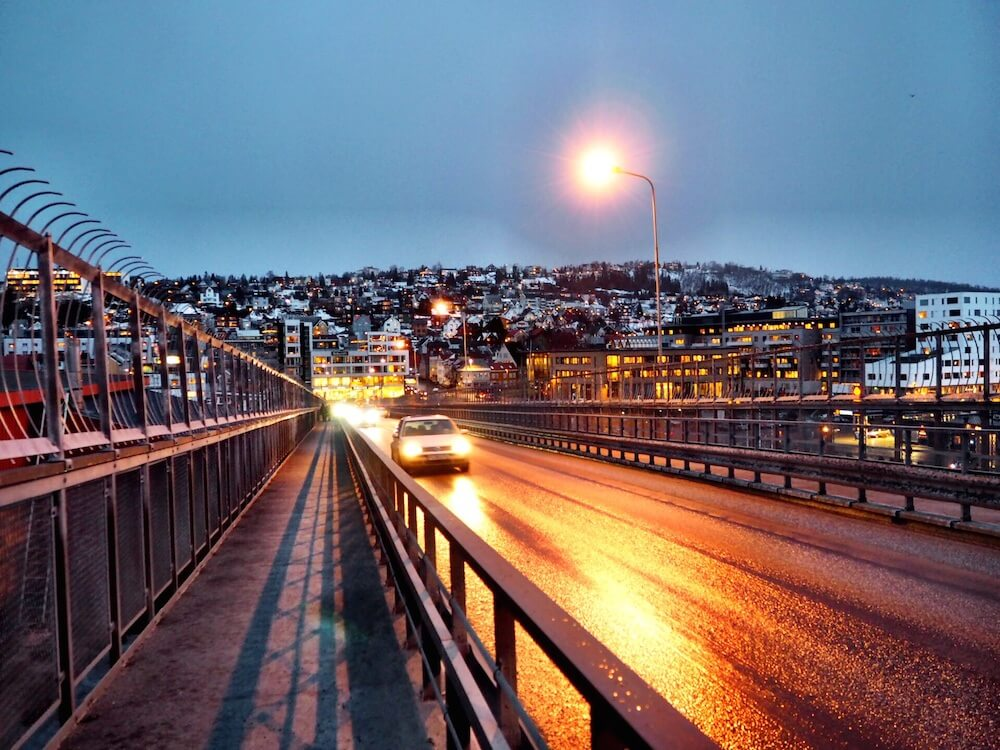 Arctic Cathedral bridge in Tromso