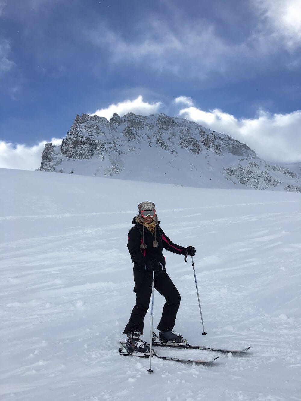 Me skiing in Tignes with Mark Warner