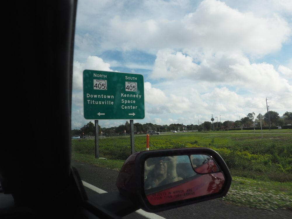 Driving to the Kennedy Space Centre