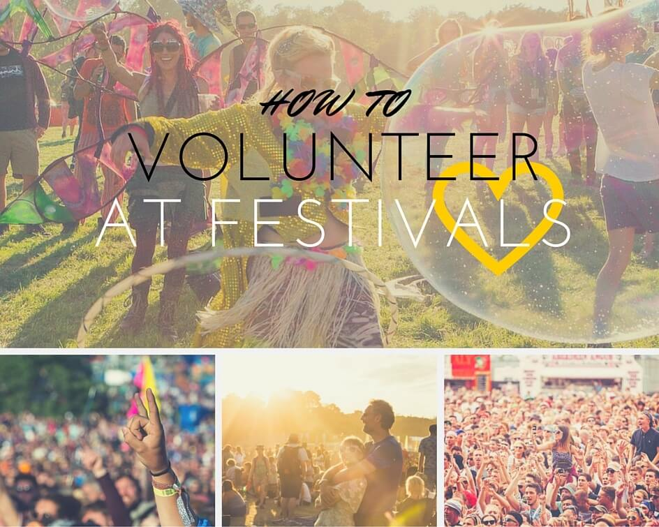 Volunteering at festivals