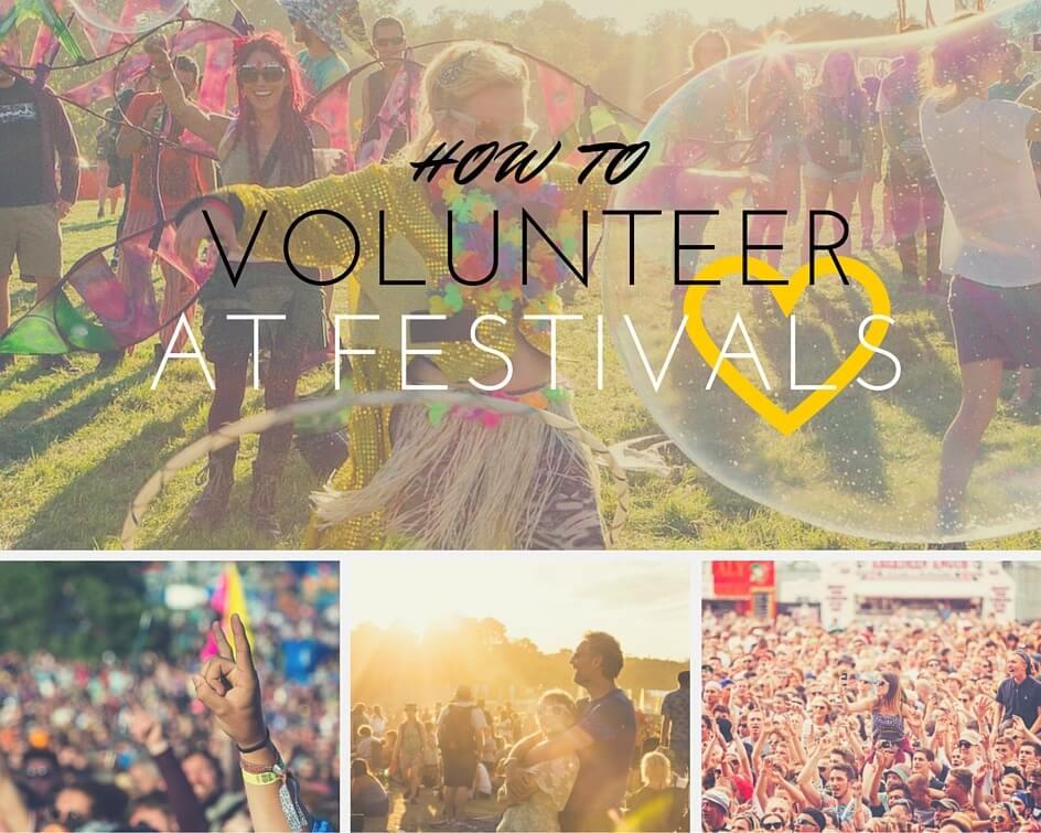 Volunteering at festivals
