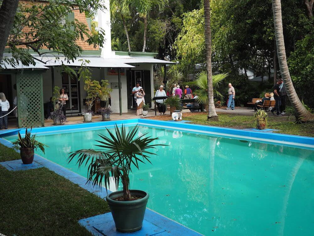 The pool at Hemingway House