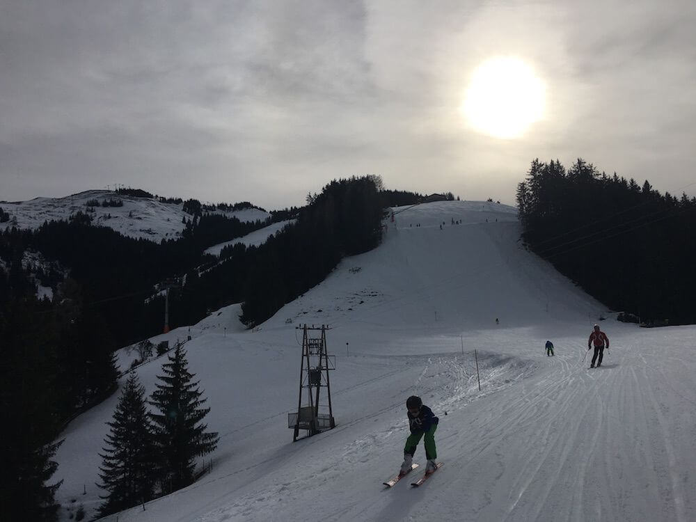Early morning ski in Austria