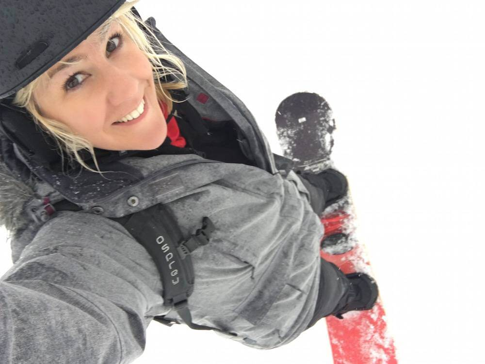 snowboarding lesson