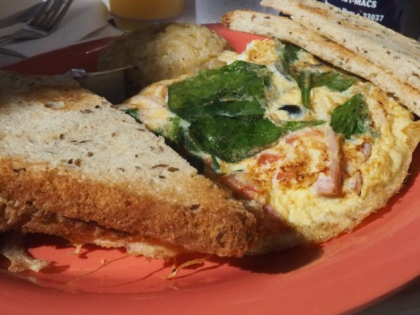 Omelette at Mrs Macs