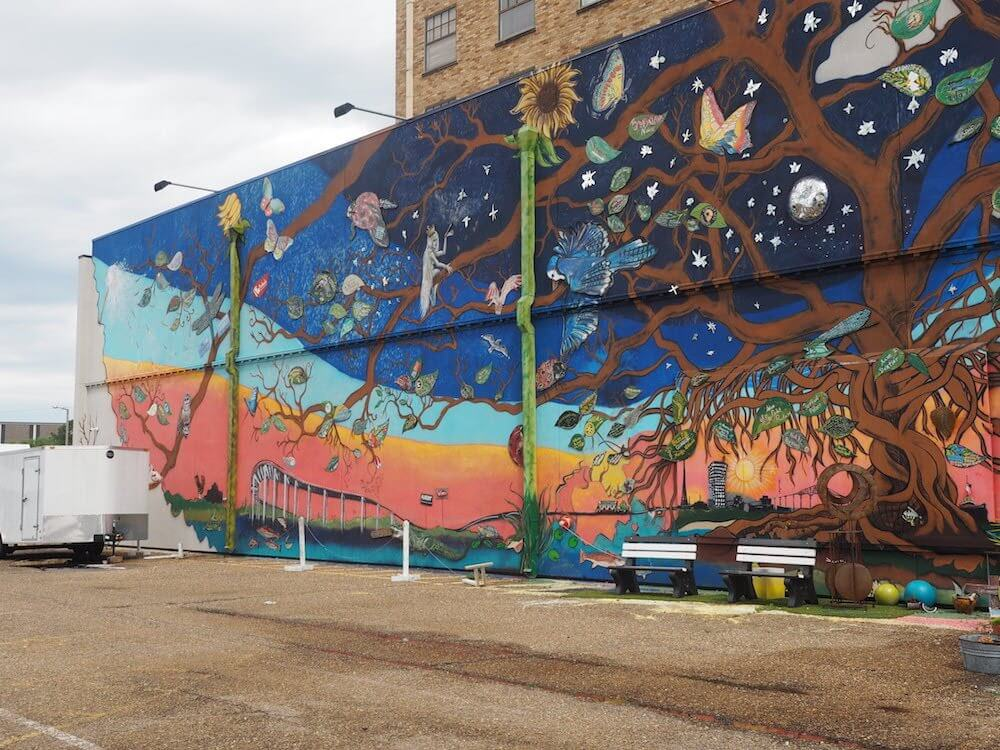 Candice Alexander mural in Lake Charles