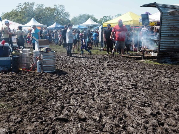 Mud at the Hogs for the Cause Festival