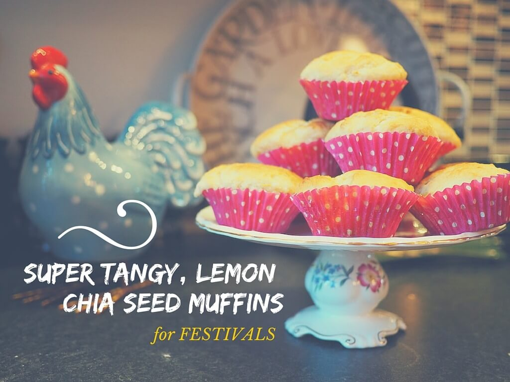 Making lemon muffins for festivals