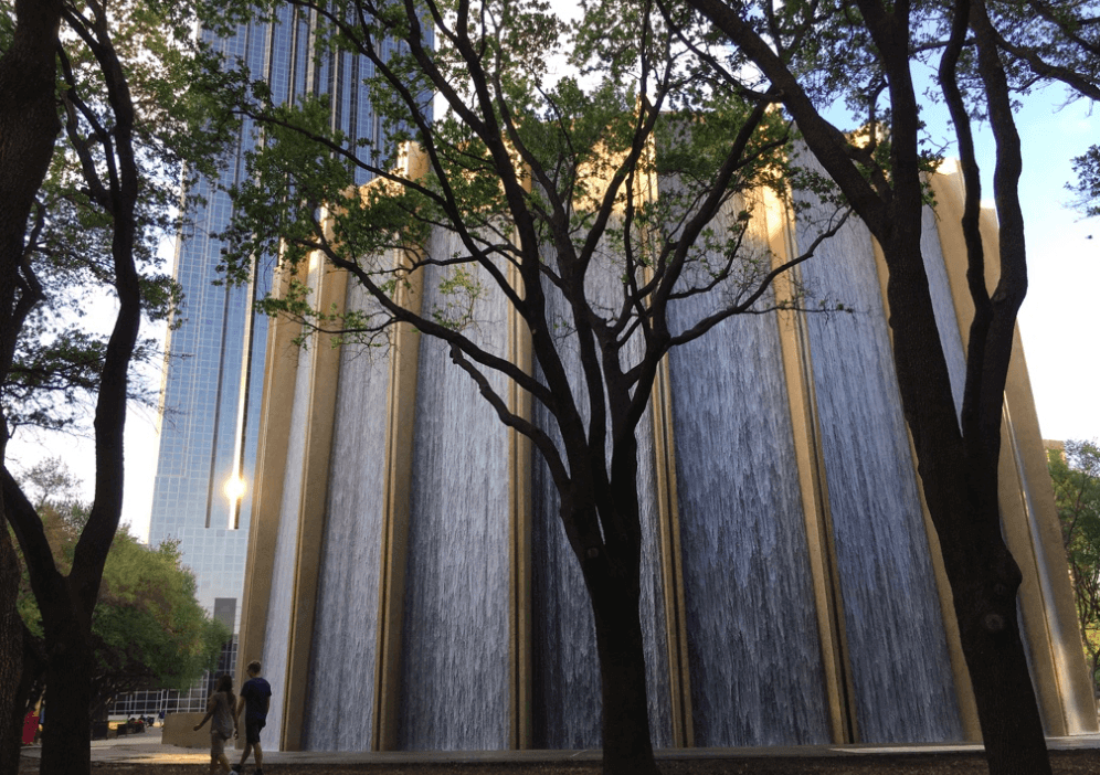 Awesome fountain in Houston
