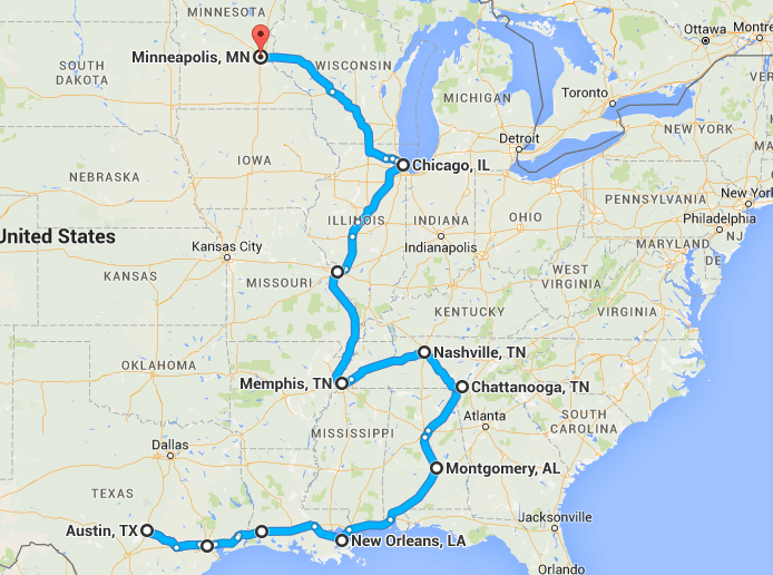 Exploring the USA for 3 months