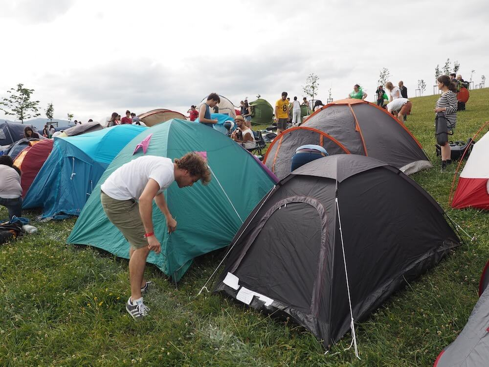 what is camping at Bilbao BBK Live Festival like?