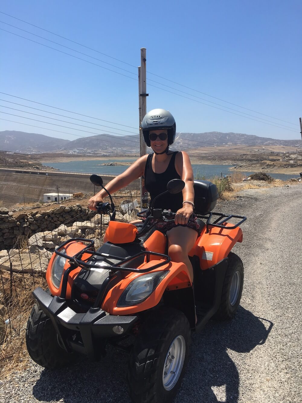 Me on the quad bike in Mykonos