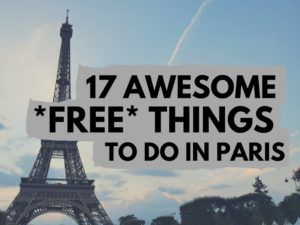 Paris free things to do