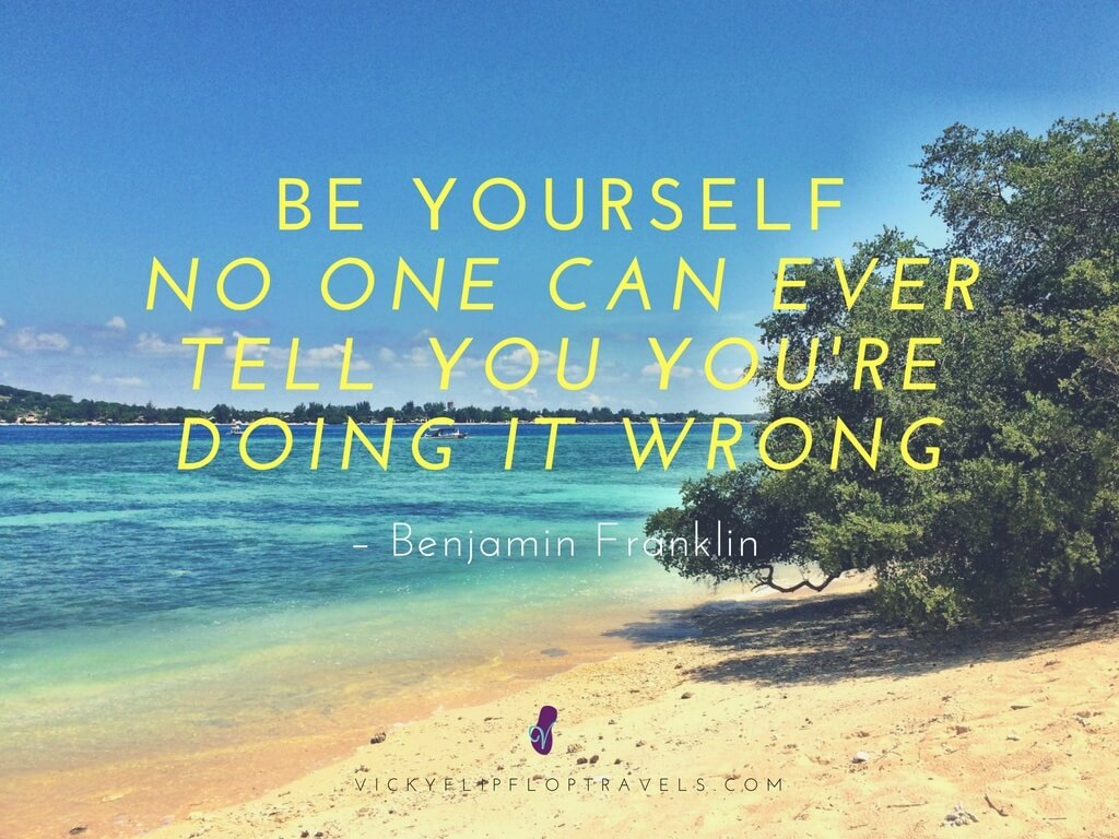 be yourself in blogging