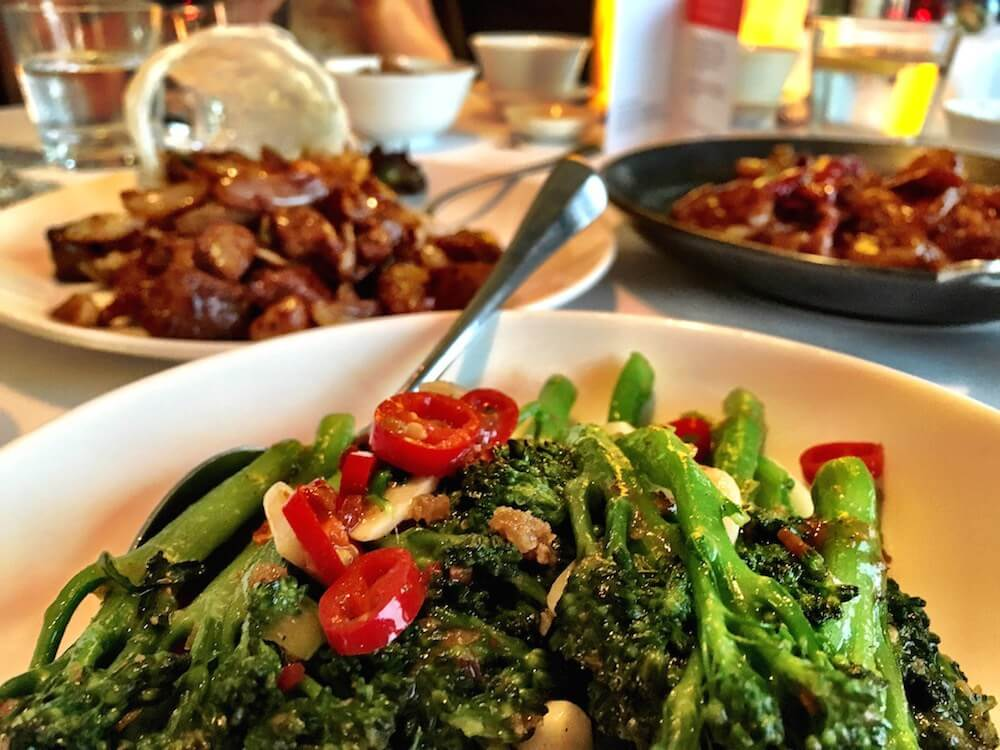 Chinese food at Min Jieng Restaurant in London