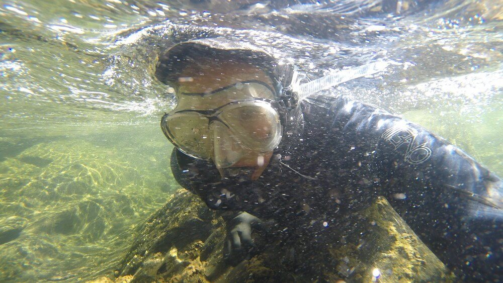 Mountain snorkelling