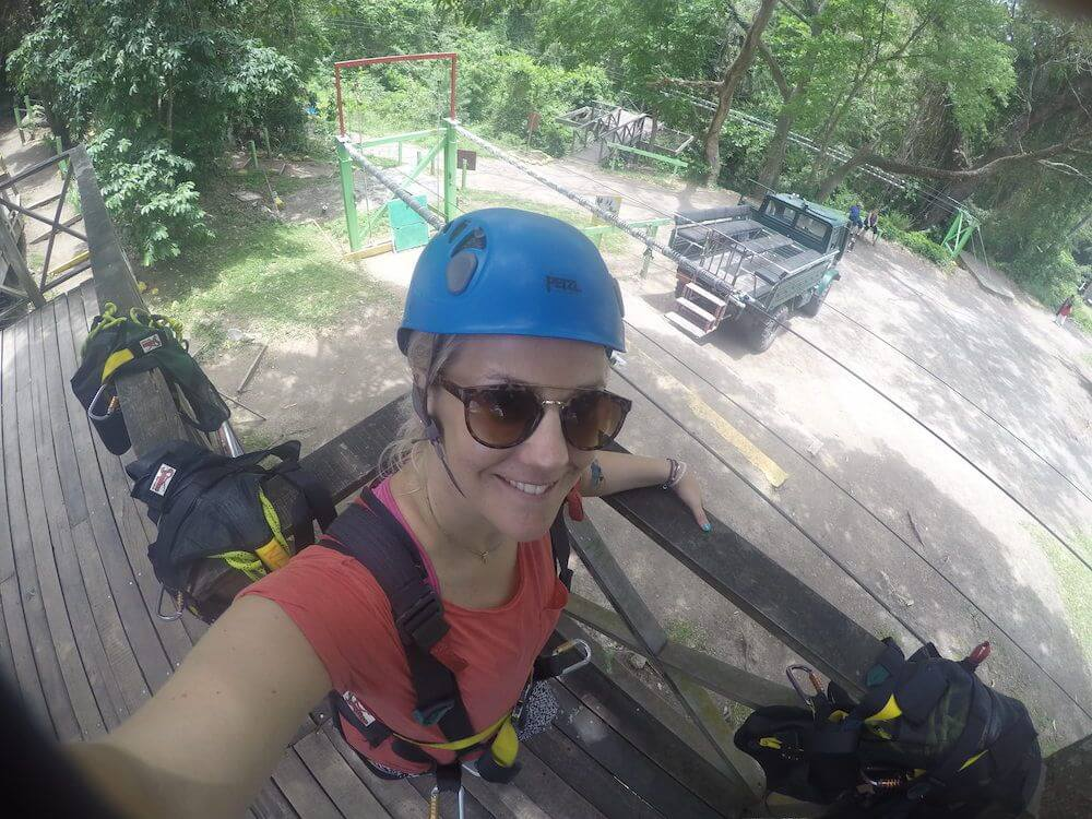 Zip lining in St Kitts