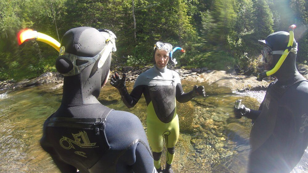 Mountain snorkelling in Lapland