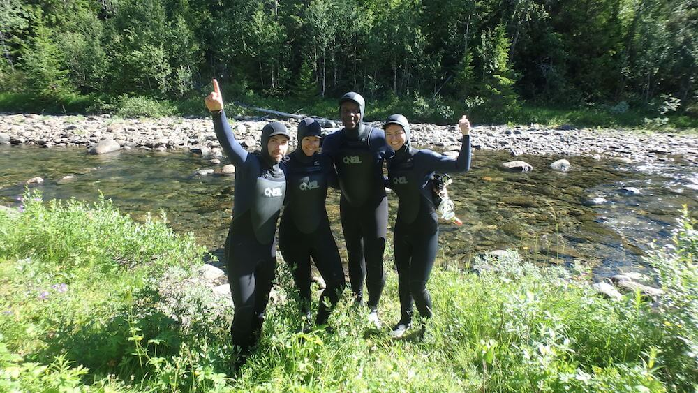 Mountain snorkelling south lapland