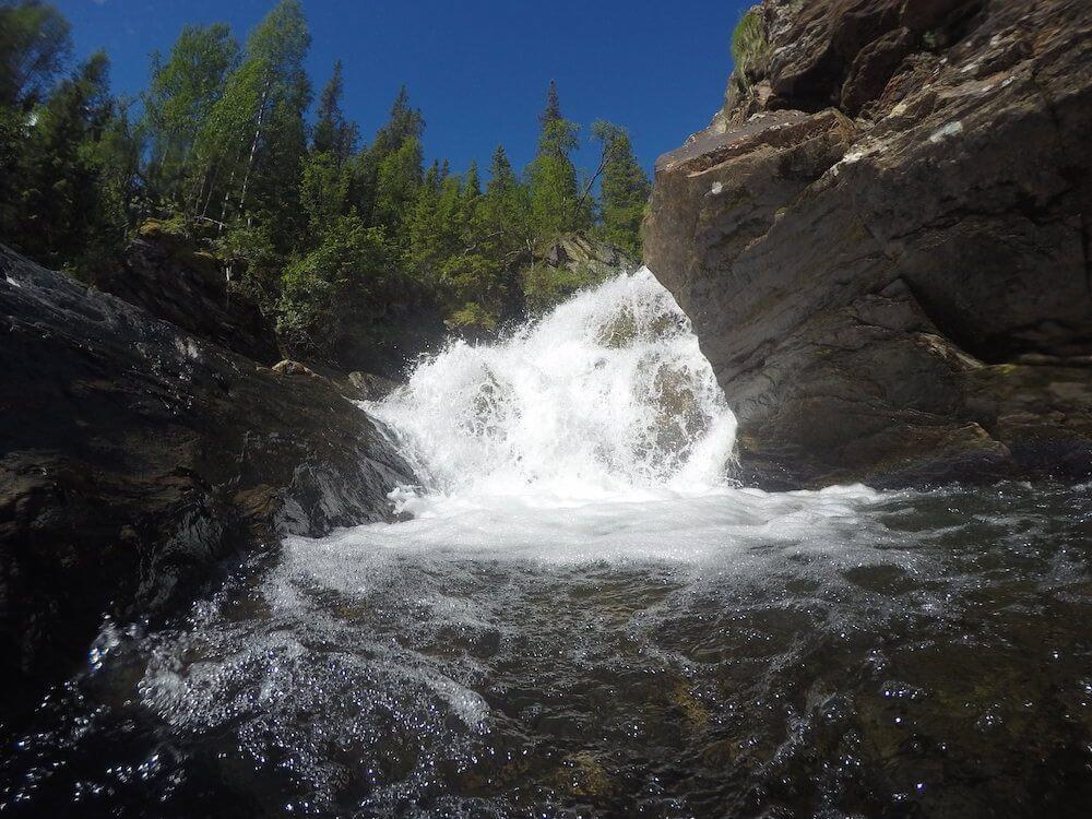 South Lapland waterfall