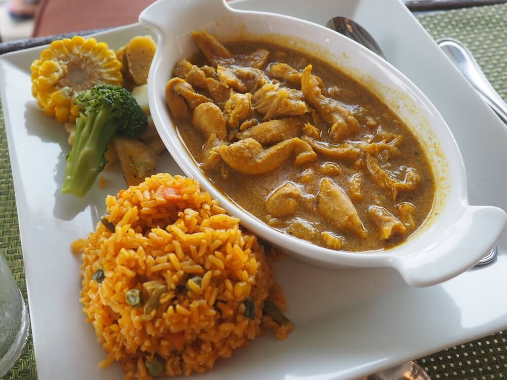 Chicken curry Palms Court Garden
