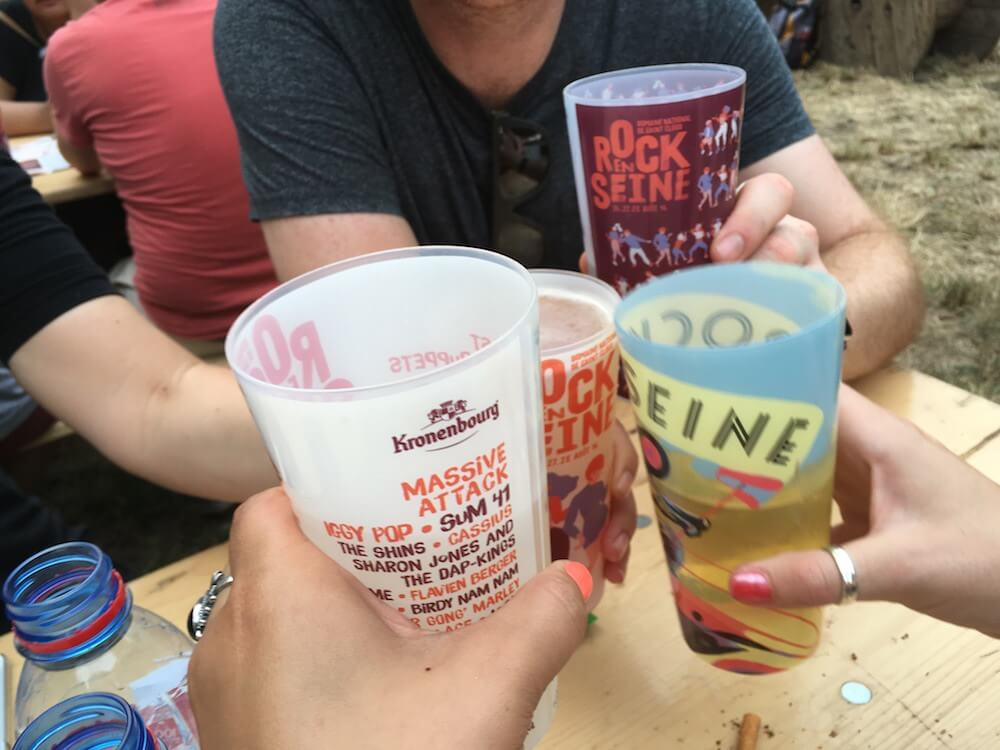 Drinking at Rock en Seine Festival