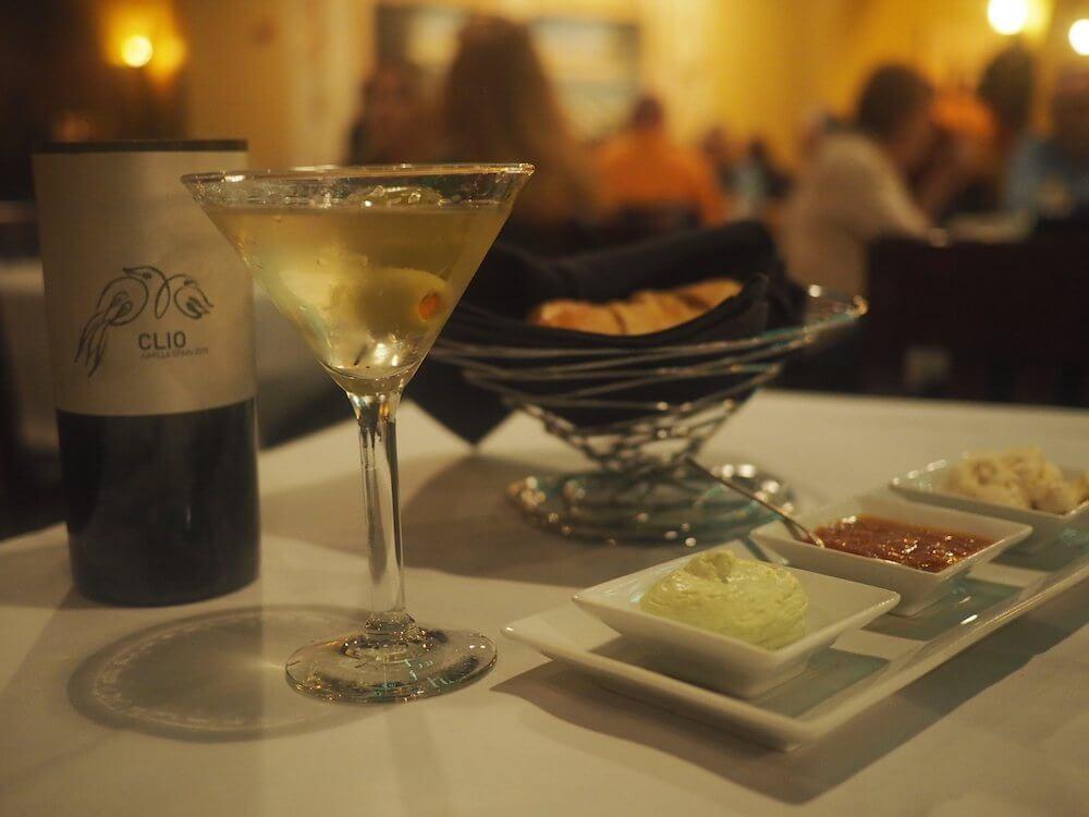 Drinking at Firefly Restaurant