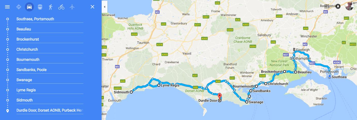 Jurassic Coast Road Trip