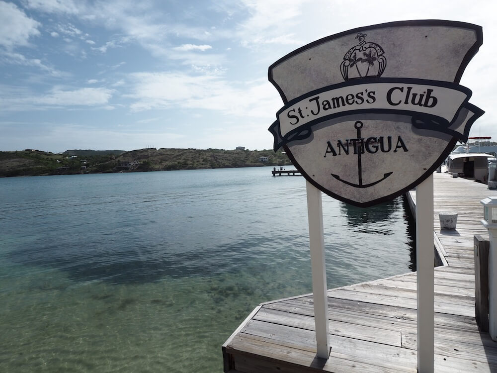 Chilling at St James Club Antigua
