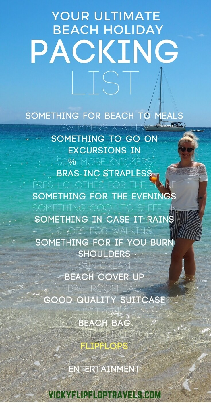 beach holiday packing guide