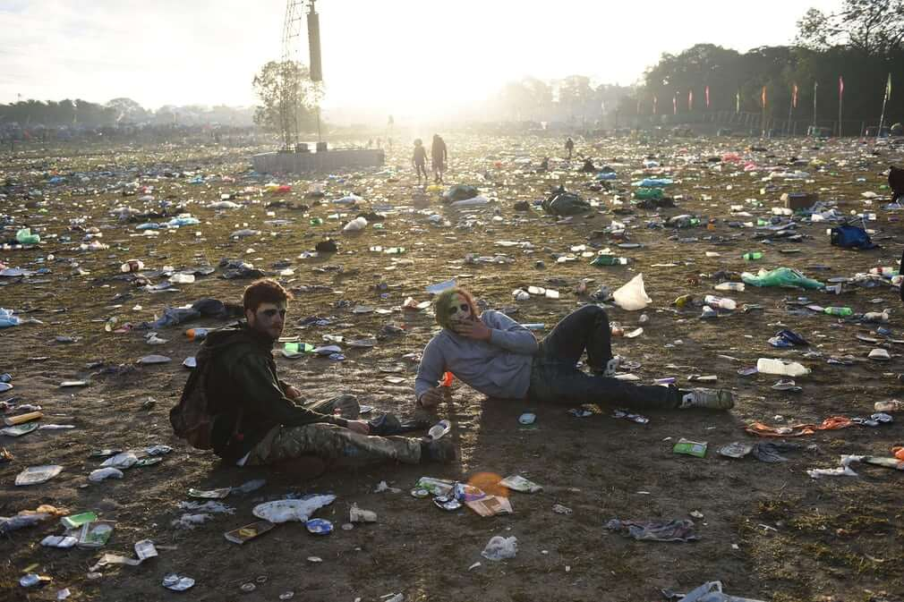Clean up at Glastonbury