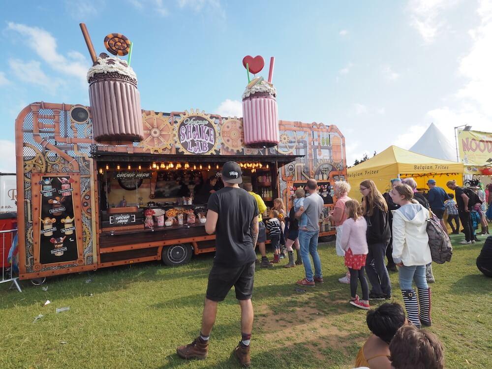 Milkshakes at Isle of Wight Festival