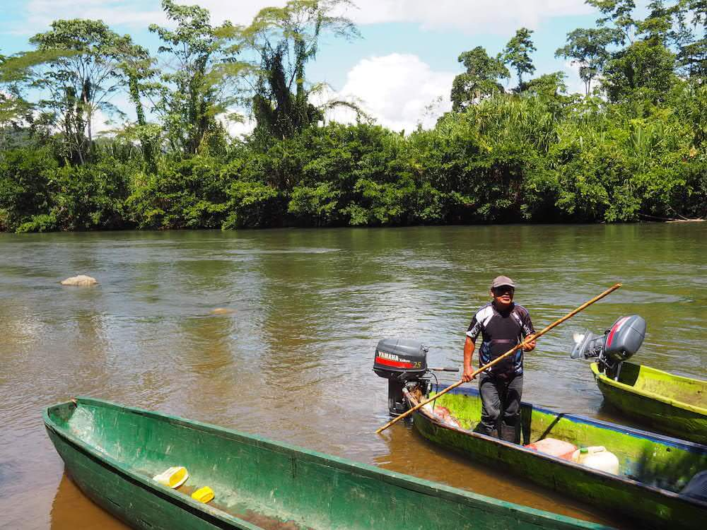 Costa Rica canal boat tour