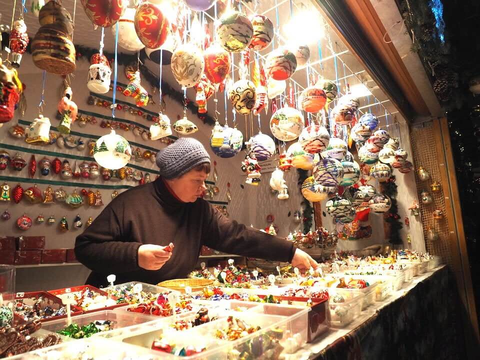 Basel Christmas Market stalls